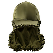Trapper-Cap mit Rüschen