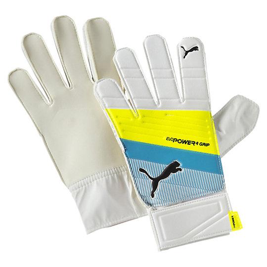 Вратарские перчатки evoPOWER Grip 4.3Спортивные аксессуары<br>Вратарские перчатки evoPOWER Grip 4.3 <br>Вратарские тренировочные перчатки для начинающих спортсменов evoPOWER Grip 4.3 от Puma станут отличным выбором для первых тренировок. Вспененный полимерный материал с полиуретановыми пальцами и вставками из сетчатого материала, который обеспечивает эффективную циркуляцию воздуха. Перчатки отличаются особенной долговечностью и выдержат любые, даже самые интенсивные тренировки начинающих футболистов. <br> <br>Коллекция: Весна-лето 2016<br>Материал: тисненный полимерный вспененный материал, полиуретан и дышащие вставки между пальцами<br>Долговечные и надежные тренировочные перчатки для юниоров<br>Упаковка: пластиковый пакет<br><br><br>size RU: 27<br>gender: Male