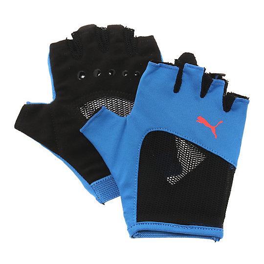 Перчатки Gym GlovesСпортивные аксессуары<br>Перчатки Gym GlovesУдобные и прочные перчатки из мягкой замши с набивкой на ладони и большом пальце. Благодаря эластичной манжете перчатки удобно снимать и надевать.Коллекция: Осень-зима 2016Материал: 75% полиэстер, 13% нейлон, 5% спандекс, 7% полиуретанВид спорта: ТренингЦвета: черный, розовыйЭластичная сетчатая ткань на ладони обеспечивает хорошую посадку и вентиляциюСиликоновый точечный принт улучшает сцеплениеЦветной логотип PUMA на тыльной стороне ладониСтрана-производитель: Гонконг<br><br>size RU: S<br>gender: Female