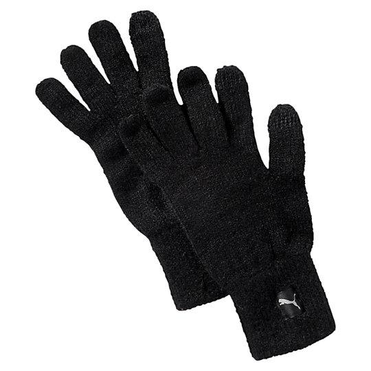 Перчатки PUMA Big Cat Knit GlovesТеплые аксессуары<br>Перчатки PUMA Big Cat Knit Gloves<br>Теплые трикотажные перчатки PUMA. Незачем мерзнуть в холодный день.<br><br>Коллекция: Осень-зима 2016<br>Материал: 100% акрил<br>Вставки на большом и указательном пальцах для работы с сенсорным экраном мобильных устройств<br>Тканый ярлычок с логотипом PUMA<br>Эластичная кромка для плотной посадки<br>Страна-производитель: Китай<br><br><br>size RU: L/XL<br>gender: Unisex