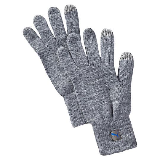 Перчатки PUMA Big Cat Knit GlovesТеплые аксессуары<br>Перчатки PUMA Big Cat Knit GlovesТеплые трикотажные перчатки PUMA. Незачем мерзнуть в холодный день.Коллекция: Осень-зима 2016Материал: 100% акрилВставки на большом и указательном пальцах для работы с сенсорным экраном мобильных устройствТканый ярлычок с логотипом PUMAЭластичная кромка для плотной посадкиСтрана-производитель: Китай<br><br>size RU: M/L<br>gender: Unisex