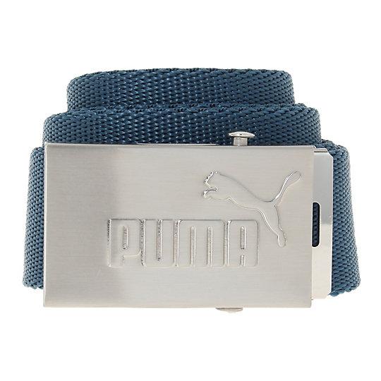 プーマ PUMA アクティブ ウェビングベルト ユニセックス blue wing teal-brushed silver, No.1 Logo【ファッション小物  ベルト  メンズ ベルト】PUMA プーマ【サイズ OSFA/ブルー】メンズ  アクセサリー  ベルト