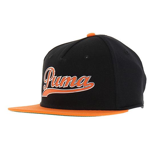 プーマ スクリプト スナップバック キャップ メンズ black-vibrant orange【帽子  メンズ 帽子  その他】PUMA プーマ【サイズ OSFA/ブラック】メンズ  アクセサリー  帽子