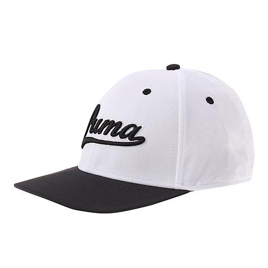 プーマ スクリプト フィッテド キャップ メンズ white-black【帽子  メンズ 帽子  その他】PUMA プーマ【サイズ SM,LXL/ホワイト】メンズ  アクセサリー  帽子