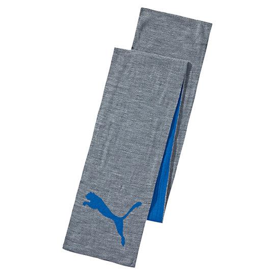 Шарф PUMA Big Cat Knit ScarfТеплые аксессуары<br>Шарф PUMA Big Cat Knit Scarf<br>Этот оригинальный двухцветный шарф прекрасно сочетается с одеждой двух различных стилей.<br><br>Коллекция: Осень-зима 2016<br>Состав: 100% акрил<br>Двухслойная ткань для большего тепла и удобства<br>Трикотажный логотип PUMA<br>Страна-производитель: Китай<br><br><br>size RU: OSFA<br>gender: Unisex