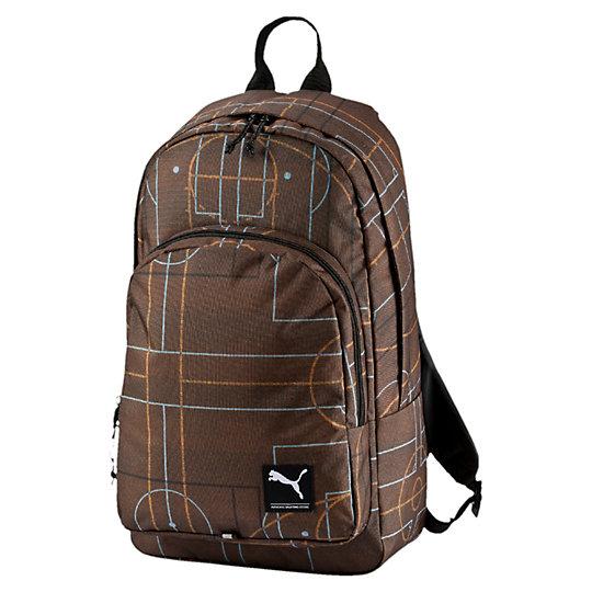 Рюкзак PUMA Academy BackpackРюкзаки<br>Рюкзак PUMA Academy Backpack Рюкзак PUMA Academy Backpack очень удобен для ежедневного использования и путешествий. В основном отделении имеется мягкий отсек для ноутбука. Регулируемые плечевые ремни изогнуты для комфортного использования, а мягкая прослойка служит для равномерного распределения нагрузки по спине. На лицевой стороне рюкзака находится логотип PUMA Cat. Коллекция: Осень-зима 2016Состав:100% полиэстерРазмер: 31х50х16 смЦвета: черный, голубой, серый, коричневыйДополнительный карман на молнии спередиИмеется ручка для транспортировки в рукахСветоотражающая лента для улучшения видимостиСтрана-производитель: Вьетнам<br><br>size RU: UA<br>gender: Unisex