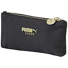 Suede pouch.