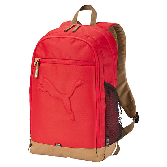 Рюкзак Buzz BackpackРюкзаки<br>Рюкзак Buzz BackpackЭтот прочный рюкзак от компании PUMA позаботится о вашем багаже в то время, когда вы будете заняты своими делами.Коллекция: Весна - лето 2016 В основное отделение вшита двусторонняя молнияВнутренняя эластичная перегородка обеспечивает бережное хранение вашего ноутбукаПереднее отделение на молнииКарман на молнии впередиИмеется два боковых сетчатых карманаМягкие и регулируемые изогнутые лямкиДля оптимального комфорта мягкая задняя спинкаСветоотражающие элементы улучшат вашу видимость в темное время суток34х47х17см (26л)<br><br>color: красный<br>size RU: OSFA<br>gender: Unisex