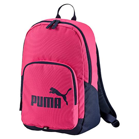 Рюкзак PUMA Phase BackpackРюкзаки<br>Рюкзак PUMA Phase BackpackВ рюкзаке PUMA Phase Backpack поместится все ваше снаряжение. Для большего удобства предусмотрено несколько карманов, а стильный дизайн подчеркнет ваш вкус.Коллекция: Осень-зима 2016Размеры: 31.5 x 43 x 13.5 cм (20 л)Цвета: черный, синий, красный, розовыйДвусторонняя застежка-молния для главного отделения Молния на переднем отделении Полиэстер с подкладкой из полиуретана Смягченные регулируемые иозгнутые лямки Ручка из тканой ленты для переноски Мягкая спинка для оптимального комфорта Металлическая собачка на молнии с тканой лентой Отражающая полоска спередиСтрана-производитель: Вьетнам<br><br>size RU: OSFA<br>gender: Unisex