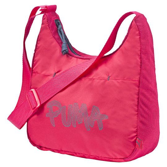Сумка PUMA Core Shoulder BagСумки<br>Сумка PUMA Core Shoulder BagСумка PUMA Core Shoulder Bag изотовлена из практичного полиэстера и оснащена вместительным основным отделением, закрывающимся на двойную застежку-молнию. Передний кармашек на застежке-липучке и внутренний кармашек для мелочей предоставляет возможность разместить и организовать вещи для вашего удобства. Основа сумки прекрасно держит свою форму, ее можно ставить на пол. Коллекция: Весна-лето 2016  Двусторонняя застежка-молния на основном отделении Карман для мелочей на передней части, внутренний карман на молнии Регулируемый плечевой ремешок из ткани Металлические брендированные язычки застежек-молний Принт с логотипом Puma на передней части, логотип на боковой части Материал: полиэстер с изнанкой из полиуретана и сетчатая ткань<br><br>size RU: OSFA<br>gender: Female