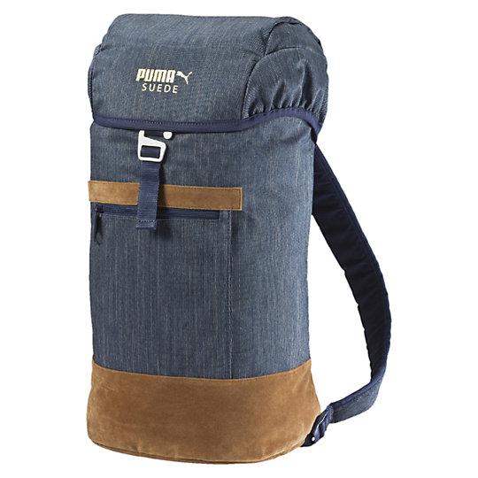 Рюкзак Suede BackpackРюкзаки<br>Рюкзак Suede BackpackСоздателей этого прекрасного рюкзака Suede Backpack вдохновила легендарная коллекция PUMA Suede. Этот рюкзак вместит ваше снаряжение независимо от того, куда вы направляетесь - на прогулку, в спортивный зал, в путешествие. Вместительные отделения, удобные застежки и неординарный и крайне стильный дизайн - хит среди ценителей современного городского стиля. Коллекция: Весна - лето 2016.  Откидывающийся верх с алюминиевой застежкой. Дополнительная шнуровка для фиксации. Вместительный скрытый карман и внутренний карман на молнии. Большой задний карман. Передний карман на молнии. Искусственная замша и декоративные ремешки. Мягкая вставка в спинке для оптимального комфорта. Регулируемые по длине мягкие лямки. Тканевая ручка для переноски. Золотой логотип PUMA Suede на крышке. Размер: 28.5 x 52 x 18 cм (19л).<br><br>color: фиолетовый<br>size RU: OSFA<br>gender: Unisex