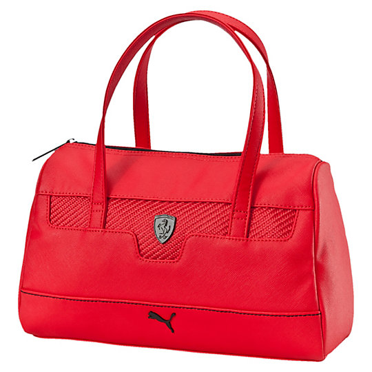 сумка Ferrari LS HandbagСумки<br>Cумка Ferrari LS Handbag<br>Модная сумка из эксклюзивной коллекции Ferrari дополнит образ любителя автоспорта. Благодаря большому карману на молнии и внутреннему карману, вы сможете взять все необходимые вещи с собой.<br><br>Коллекция: Осень-зима 2016<br>Материал: 93% полиуретан, 7% полиэстер с полиуретановой изнанкой<br>Размеры: Длина 33 см, ширина 13 см, высота 20 см (6,5 л)<br>Большой карман на молнии и внутренний накладной карман<br>Мягкие лямки для удобства при переноске<br>Металлический логотип Ferrari, фурнитура матового черного цвета<br>Страна-производитель: Гонконг<br><br><br>size RU: OSFA<br>gender: Female