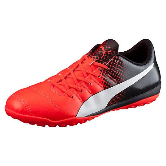 Бутсы evoPOWER 4.3 Tricks TTБутсы<br>Бутсы evoPOWER 4.3 Tricks TT <br> Бутсы evoPOWER 4.3 Tricks TT предназначены как для профессиональных футболистов, так и для простых любителей этой игры. Базовая модель шиповок (сороножек) в линейке футбольной обуви EvoPOWER от PUMA, повторяющая дизайн флагманской модели линейки evoPOWER 1.3, которая отлично подойдет для игры на искусственном покрытии, снегу или земле. Благодаря использованию прочного синтетического материала верха, бутсы evoPOWER 4.3 TT сочетают в себе легкость, комфорт и долговечность. Маленькие резиновые шипы позаботятся  о хорошем сцеплении с поверхностью поля. Достигайте высоких результатов с бутсами для футбола от Puma. <br> <br>Коллекция: Осень-зима 2016<br>Материал верха: Полиуретан<br>Обувь подходит для использования на естественных и искусственных поверхностях<br>Шипованная резиновая подошва обеспечивает надежное сцепление с полем<br>Страна-производиетль: Вьетнам<br><br><br>size RU: 43<br>gender: Male