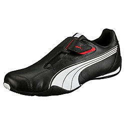 PUMA Mens Redon Move Shoes in Black/White/High Risk Red