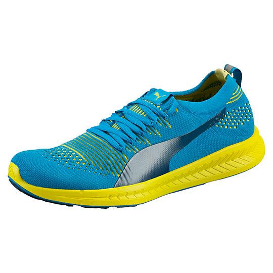 Кроссовки IGNITE ProKnitДля бега<br>Кроссовки IGNITE ProKnit Мужские кроссовки IGNITE ProKnit от PUMA - это отказ от привычных наслоений ткани и элементов поддержки в производстве верха обуви. Вся верхняя часть это сплошное плетение, где плотность, воздухопроницаемость и гибкость задается типом плетения и соотношением разных нитей. Все это обеспечивает анатомическую посадку и максимальный комфорт.  Запатентованная промежуточная подошва из PU (полиуретан) пены обеспечивает максимальный возврат энергии, что позволяет заниматься гораздо дольше и улучшать свои результаты. Распределение  и поглощение ударной нагрузки происходит за счет вставки ForeverFOAM  в пяточной части подошвы. За счет отличной амортизации отлично подойдут для бегунов всех уровней на любые дистанции (включая марафоны).Сезон: осень-зима 2015 годаТехнология Proknit – вязанный верх кроссовка произведен в ЕвропеПерепад высоты с пятки на носок (HTD) – 12 ммКатегория Neutral – универсальный беговой кроссовокУльтратонкая конструкция язычка обеспечивает максимально комфортную посадкуБороздки Flex на подошве обеспечивают плавный переход  с пятки на носок<br><br>size RU: 44<br>gender: Male