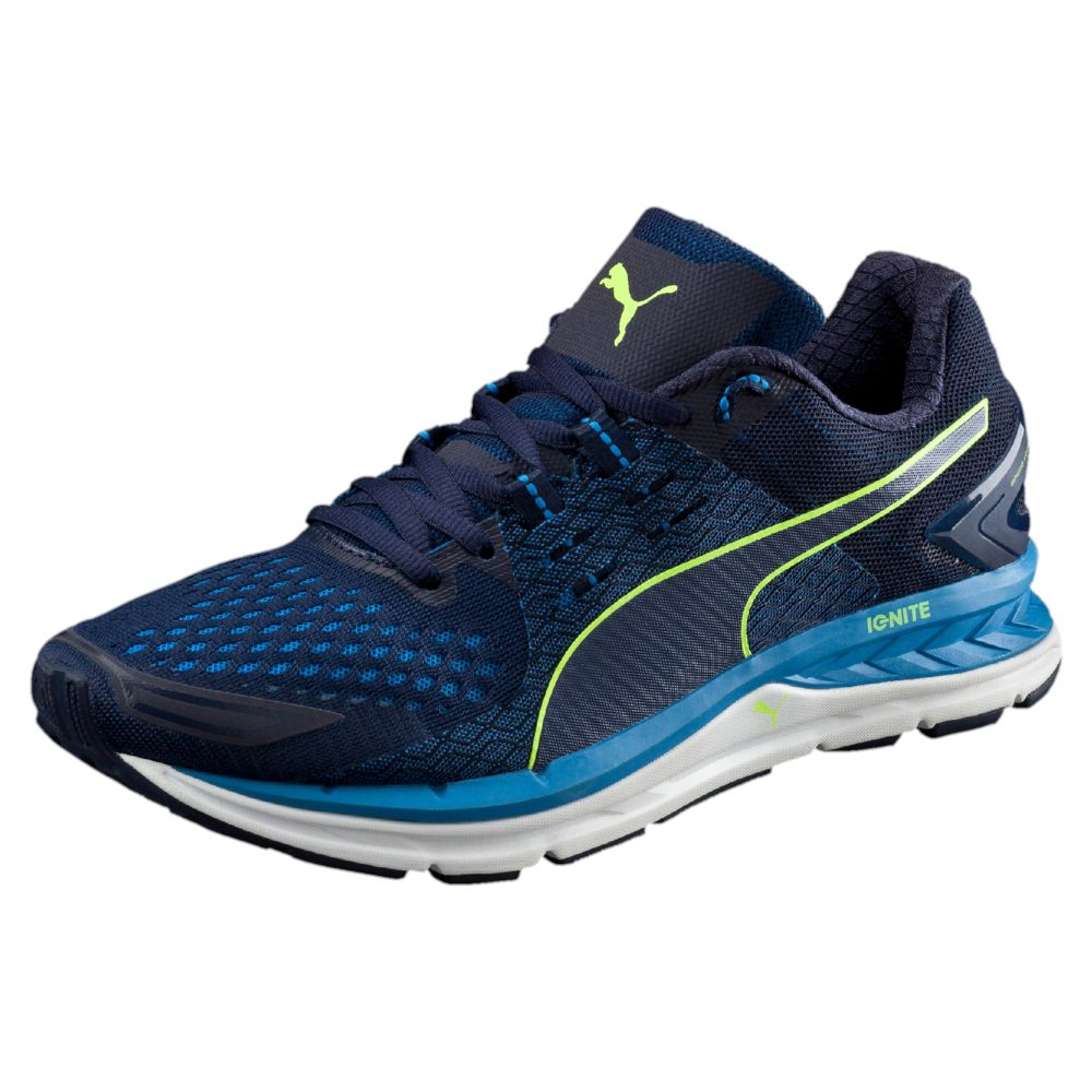 Puma Black And Blue Running Shoes