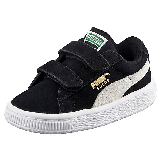 Suede 2-Strap Kids Sneakers