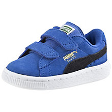 Suede 2 straps kids' trainers.