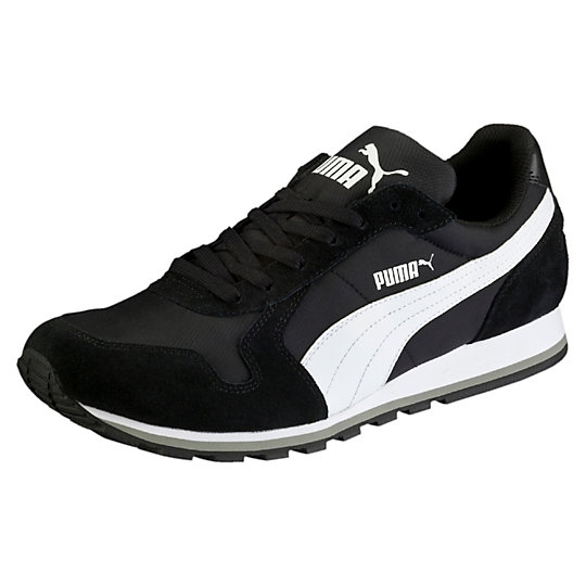 Кроссовки ST Runner NLКроссовки и кеды<br>Кроссовки ST Runner NL Кроссовки ST Runner NL, способны легко подстроиться под форму вашей стопы и во время носки обеспечивают максимальный комфорт. Язычок обуви украшает логотип PUMA Cat.Сезон: Весна-лето 2016 годаЛегкий верх из кожи дополнен нейлоновыми вставкамиПромежуточная подошва EVA способствует хорошей амортизации и облегчает вес обувиИзносостойкая подошва из резины обеспечивает длительный срок службы обуви<br><br>color: черный<br>size RU: 39.5<br>gender: Female
