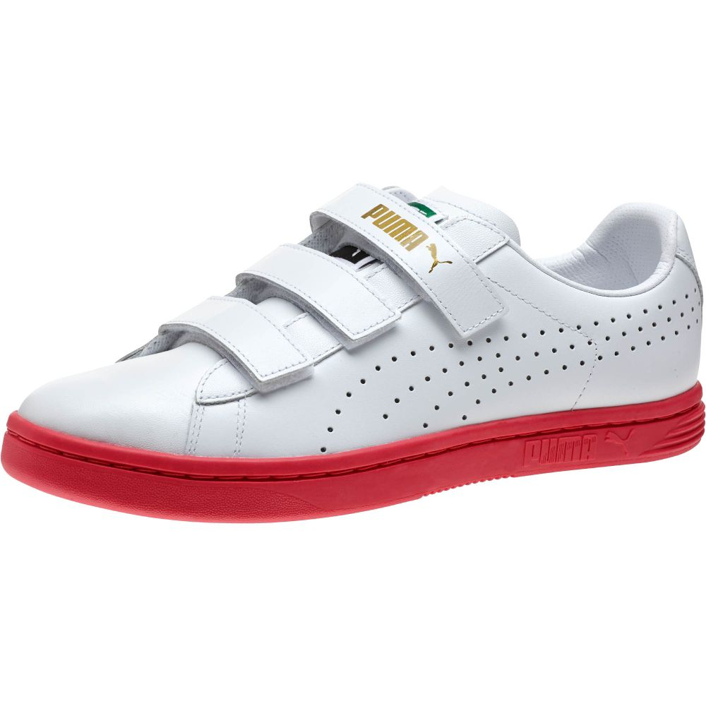 Velcro Mens Shoes Suede