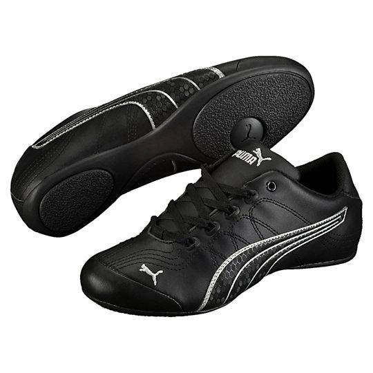 Puma Soleil v2 Comfort Fun Womens Sneakers (Black-puma Silver)