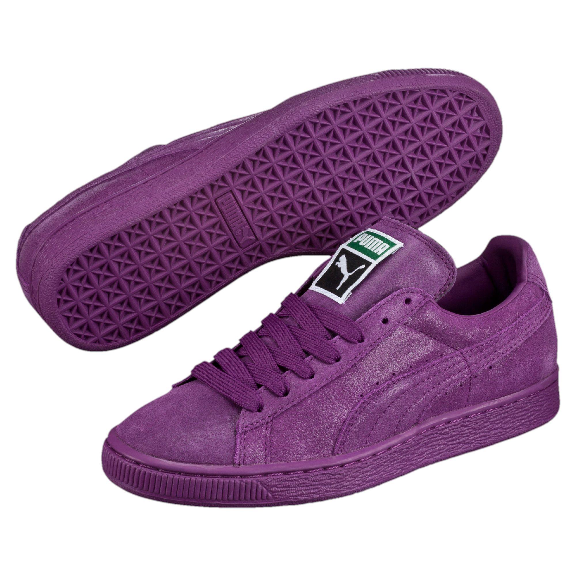 puma classics suede purple