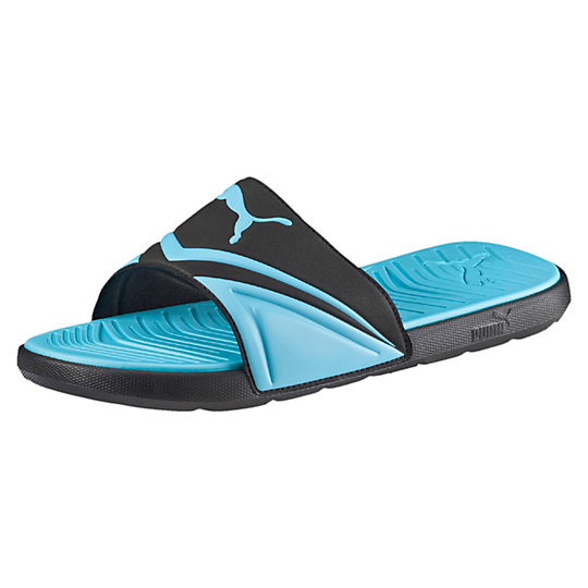 PUMA Mens Starcat Pro Sandals in Black/Atomic Blue or White/Black
