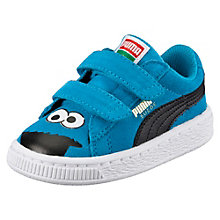 Suede Sesame Street® Cookie Monster Baby Trainers