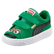 Suede Sesame Street® Oscar the Grouch Baby Trainers