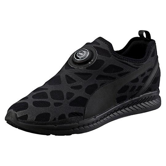 Кроссовки Disc Sleeve Ignite FoamКроссовки и кеды<br>Кроссовки Disc Sleeve Ignite Foam<br>Для летнего сезона PUMA подготовила горячую новую коллекцию обуви с оригинальной и необычной системой Disc Достаточно просто одеть обувь, повернуть диск пару раз и вы готовы! Эта модель обладает амортизацией и возвратом энергии Ignite в сочетании с тонким цельным верхом из современных материалов. <br><br>Коллекция: Весна-лето 2016.<br>Технология Disc.<br>Верх из нейлоновой сетки для особого комфорта.<br>Промежуточная подошва Ignite для максимальной амортизации и возврата энергии<br>Материал: синтетический текстиль, полиуретан.<br><br><br>color: черный<br>size RU: 41.5<br>gender: Unisex