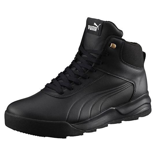 Кроссовки Desierto Sneaker LКроссовки и кеды<br>Кроссовки Desierto Sneaker L<br>Добавь суровой стильности в свой гардероб с новой моделью Desierto. Верх из качественной кожи усиливает непринужденность дизайна, а высокая резиновая подошва придает аутентичности. Амортизирующая вставка в подошве позволяет чувствовать себя комфортно в течение целого дня.<br><br>Коллекция: Осень-зима 2016<br>Материал верха: Кожа<br>Материал подошвы: Резина<br>Кожаный верх с изоляцией по бокам<br>Шнуровка для хорошей посадки<br>Средняя подошва EVA с амортизацией<br>Логотип PUMA No. 1 на язычке<br>Вышитые полоски PUMA с обеих сторон<br>Страна производитель: Вьетнам <br><br><br>size RU: 39.5<br>gender: Male