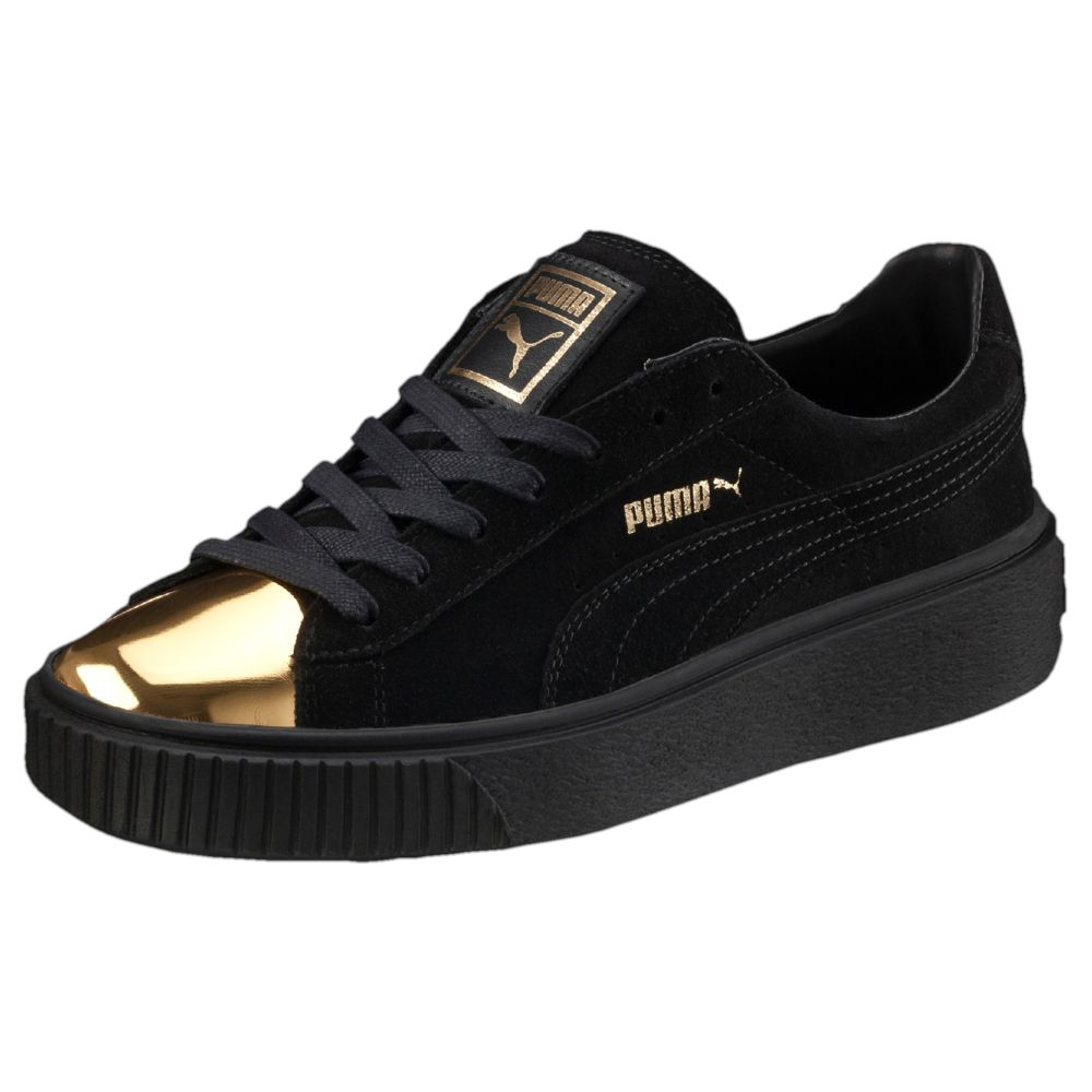 puma suede platform gold women 39 s sneakers ebay. Black Bedroom Furniture Sets. Home Design Ideas