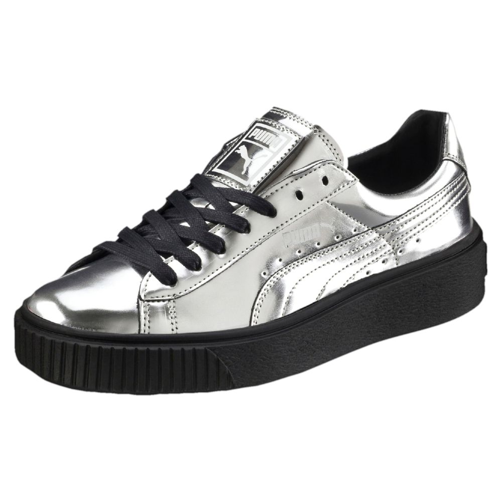 puma basket platform metallic women 39 s sneakers ebay. Black Bedroom Furniture Sets. Home Design Ideas