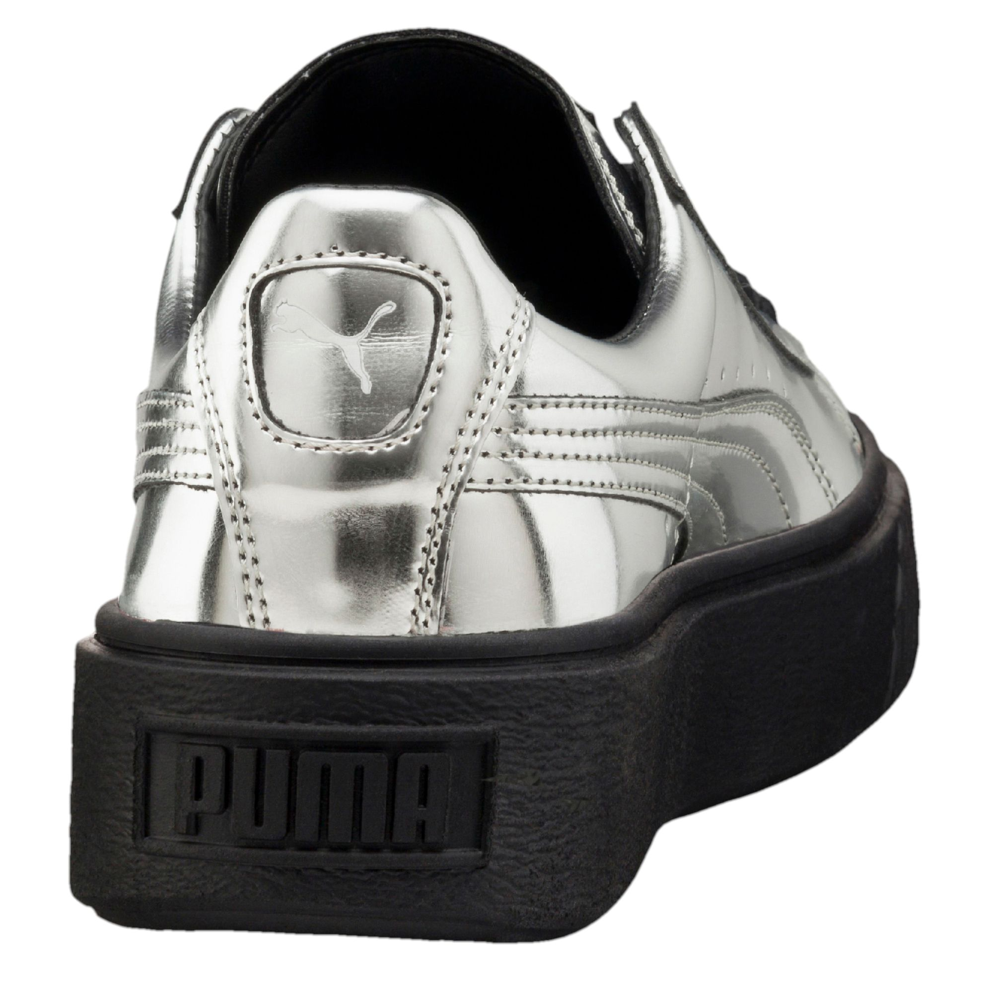 Puma Basket Platform Metallic Black