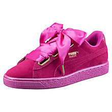 Suede Heart Satin Women's Trainers