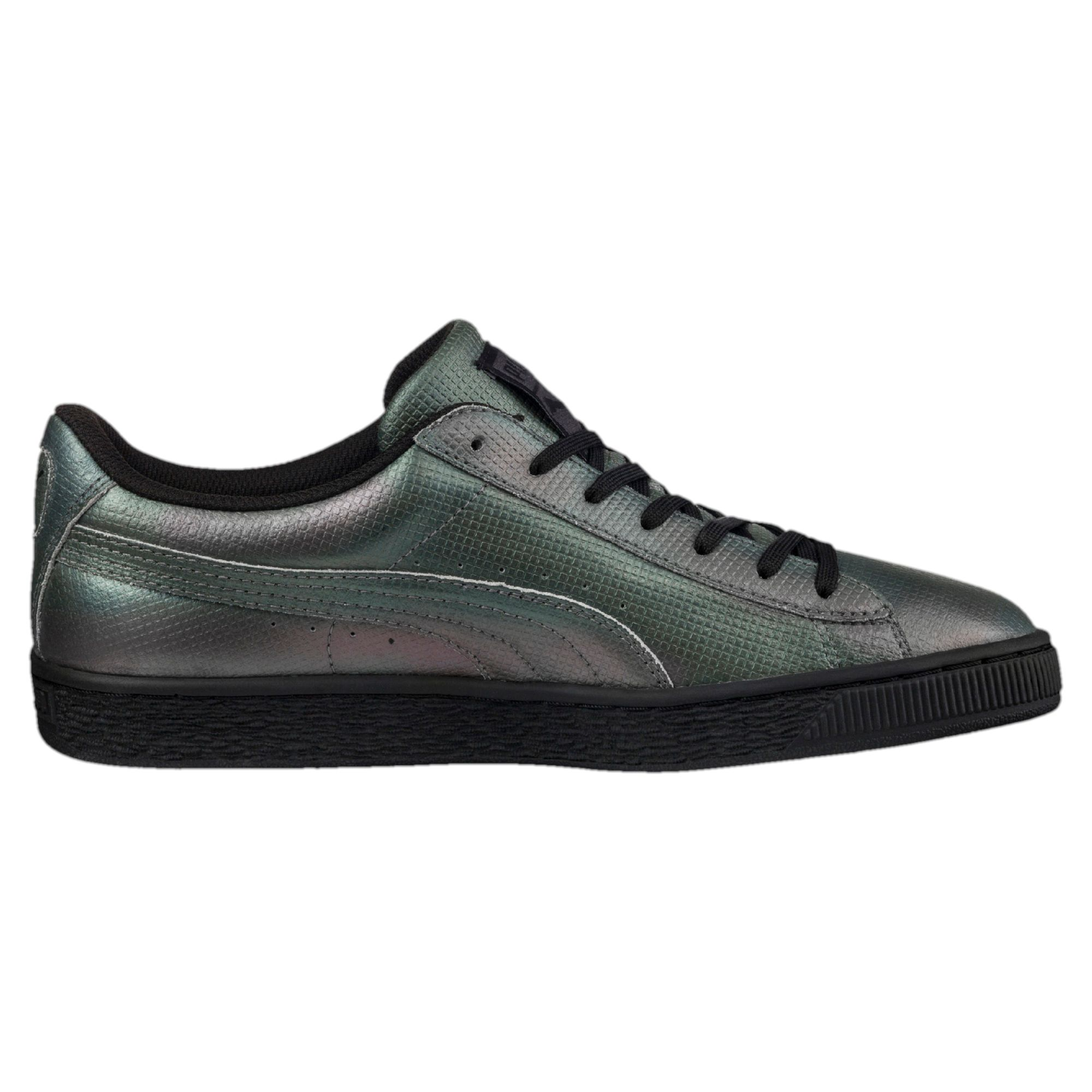 check out 43077 f4487 PUMA Basket Classic Holographic Trainers Sport Classics Low Boot ...