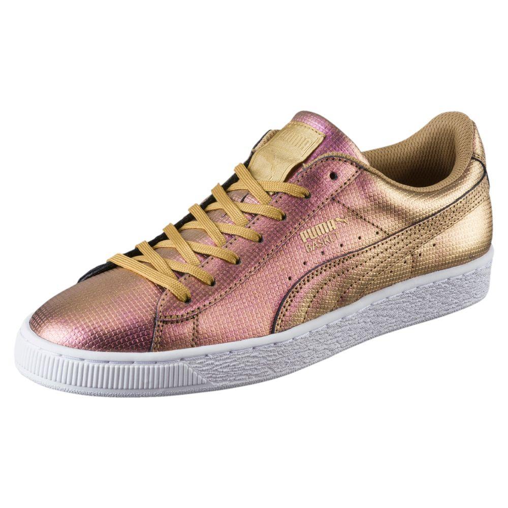 Puma Men S Basket Classic Holographic Fashion Sneaker