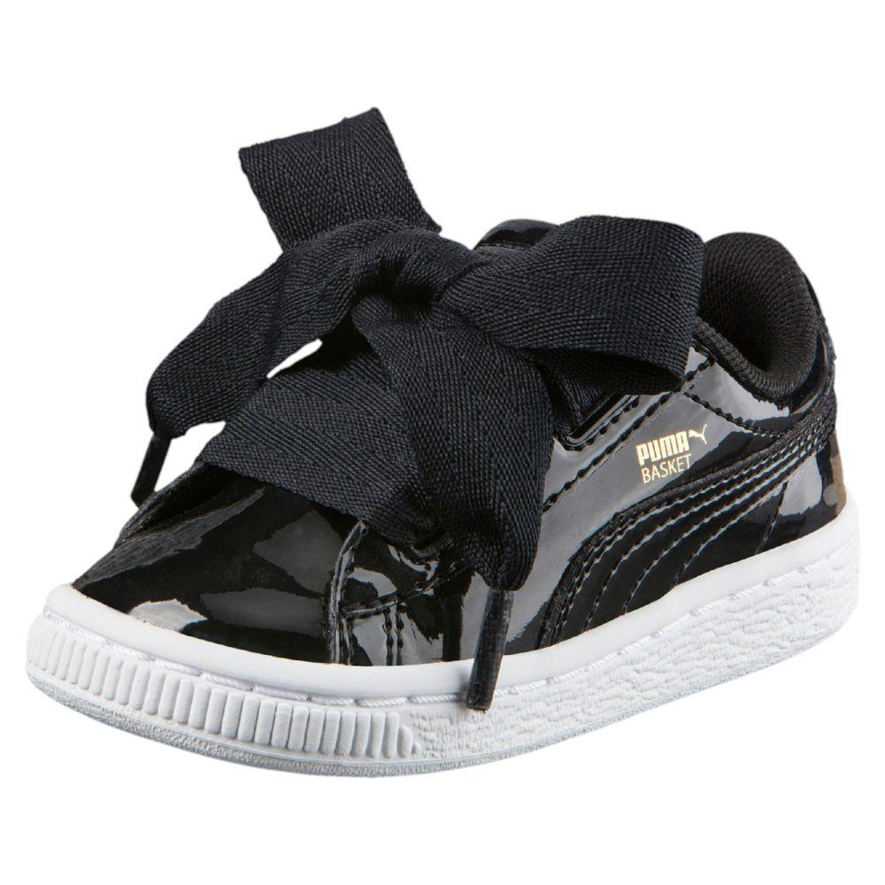 puma basket heart patent infant kids 39 sneakers. Black Bedroom Furniture Sets. Home Design Ideas