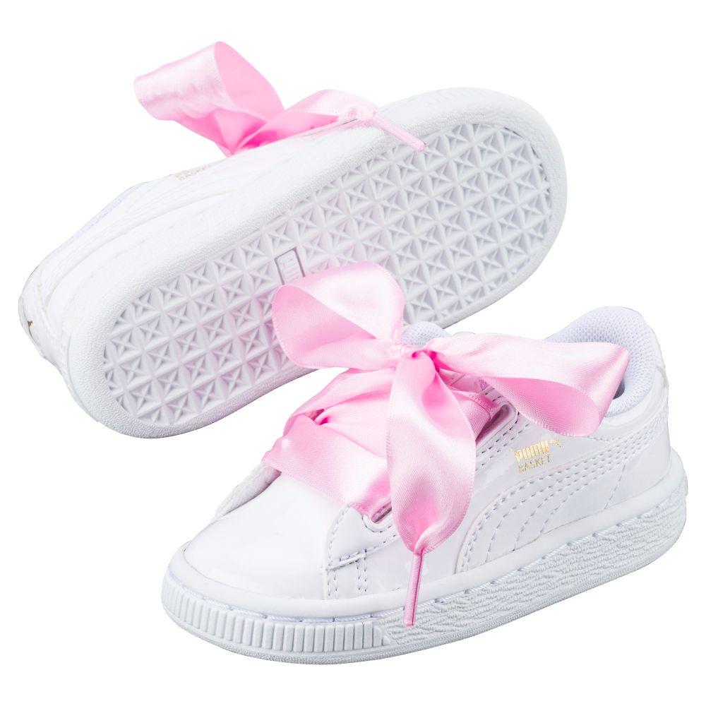 puma basket heart baby