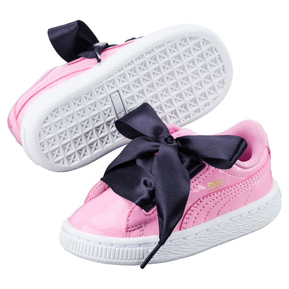 puma kids' basket heart patent ps sneaker