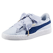 Scarpe da ginnastica Basket Heart in denim donna