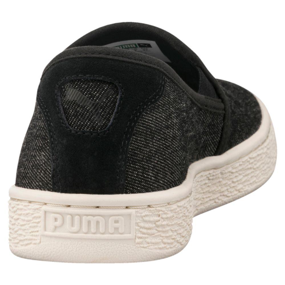 puma basket classic denim slip on men s sneakers ebay. Black Bedroom Furniture Sets. Home Design Ideas