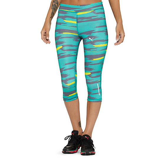 Graphic 3/4 Running Tights