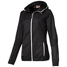 Running hooded lightweight jacket.