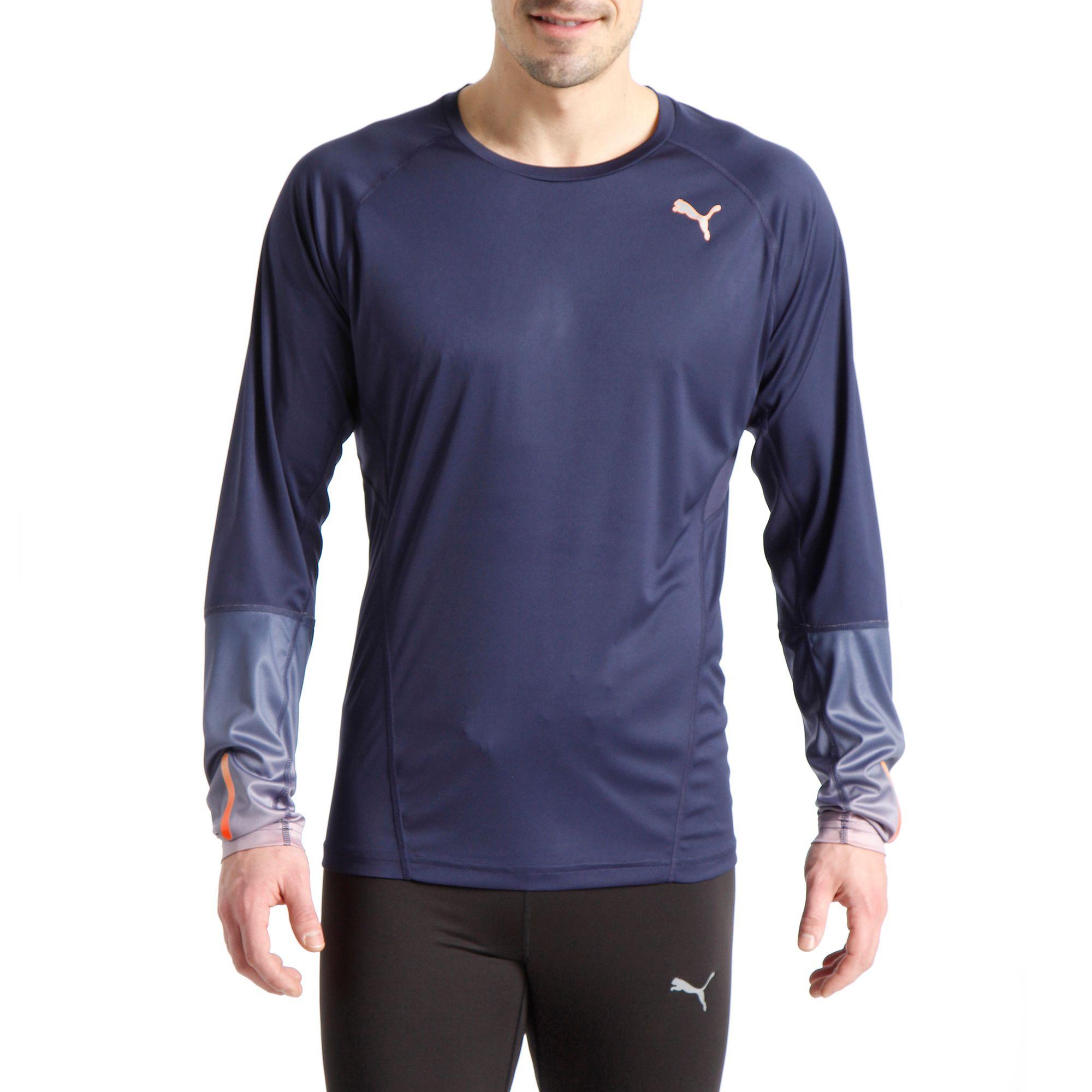 puma running ignite langarm shirt t shirt running laufen herren ebay. Black Bedroom Furniture Sets. Home Design Ideas