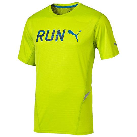 Футболка Run S/S TeeФутболки и майки<br>Футболка Run S/S Tee Мужская футболка Run S/S Tee от PUMA разработана специально для занятий бегом. Благодаря возможности поддерживать естественную терморегуляцию, она подарит вам максимальный комфорт. Вы сможете бегать в ней даже в темное время суток, не переживая о своей безопасности, ведь логотип производителя и другие элементы на футболке выполнены из светоотражающего материала, который позаботится о вашей видимости.Сезон: осень-зима 2015 годаСостав: 100% полиэстерПлоские швы для максимального комфортаСетчатые вставки способствуют лучшей циркуляции воздухаТехнология Cleansport NXT обеспечивает контроль над запахомТехнология  coolCELL, прекрасно отводит от тела выделяемый пот, обеспечивая хорошую терморегуляцию.Прочная ткань способствует длительной эксплуатации<br><br>color: желтый<br>size US: L<br>gender: Male
