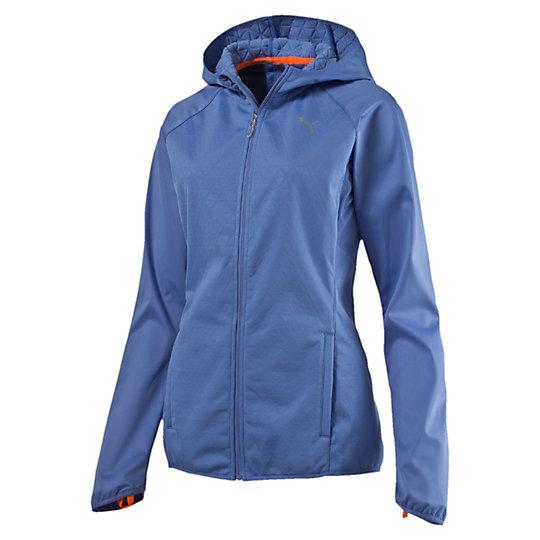 Куртка NightCat Storm Jkt WОлимпийки<br>Куртка NightCat Storm Jkt W<br>Если вы предпочитаете вечерние тренировки, но не забываете о мерах предосторожности, наденьте на пробежку куртку NightCat Storm. Благодаря светоотражающим элементам вы будете заметны, а материалы stormCELL защитят вас от холода и сырости. В заднем кармане, закрывающемся на молнию, есть петля для наушников, чтобы вы могли слушать музыку во время тренировки.<br><br>Коллекция: Осень-зима 2016<br>Состав: 100% полиэстер, трехслойный материал: джерси — мембрана — флис; водоотталкивающее покрытие<br>Технологии: Высокотехнологичный дышащий и непромокаемый материал stormCELL защитит от дождя и ветра<br>Вид спорта: Бег<br>Светоотражающие элементы улучшают видимость при плохом освещении<br>Застежка-молния во всю длину изделия<br>Ворс с изнаночной стороны дает дополнительное тепло<br>Задний карман на молнии с петлей для наушников<br>Отверстия для больших пальцев<br>Сетчатые вставки улучшают циркуляцию воздуха в зонах с повышенным тепловыделением<br>Светоотражающий логотип PUMA  слева на груди<br>Страна-производитель: Гонконг<br><br><br>size RU: 48-50<br>gender: Female