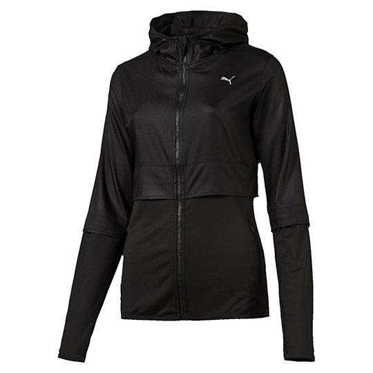 Куртка PWRSHAPE JacketОлимпийки<br>Куртка PWRSHAPE JacketВ куртке PWRSHAPE Jacket вы достигнете нового уровня эффективности тренировок. Комфортная и легкая ткань выглядит стильно и позволяет сочетать куртку с другими вещами.Коллекция: Осень-зима 2016Состав: 100% полиэстер; лицевая сторона глянцевая, непромокаемаяВид спорта: ТренингЦвет: черныйКапюшонЗастежка-молния по всей длине с клапаном для защиты подбородкаДва кармана на молнииЭффект многослойностиОтверстия для больших пальцевЛоготип PUMA на груди слеваСтрана-производитель: Гонконг<br><br>size RU: 42-44<br>gender: Female