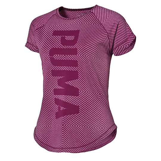 Футболка Dancer PUMA Burnout TeeФутболки и майки<br>Футболка Dancer PUMA Burnout TeeСвободная, удобная и, нужно признать, довольно откровенная футболка — именно то, что нужно, чтобы выглядеть и чувствовать себя превосходно во время тренировок. Свободная посадка позволяет двигаться свободно, а также надевать футболку поверх других спортивный вещей.Коллекция: Осень-зима 2016Состав: Полиэстер 73%, вискоза 21%, эластан 6%; финальная влагоотводящая обработка на основе биотехнологий, выгоревшая фактураТехнологии: Высокотехнологичный материал dryCELL выводит влагу наружу, сохраняя сухость и комфорт во время тренировкиВид спорта: ТренингПросторный крой не ограничивает движений и позволяют использовать футболку в многослойном комплекте одеждыВертикальная надпись PUMA впереди по центруСтрана-производитель: Китай<br><br>size RU: 42-44<br>gender: Female