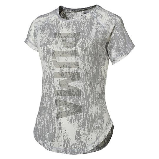 Футболка Dancer PUMA Burnout TeeФутболки и майки<br>Футболка Dancer PUMA Burnout TeeСвободная, удобная и, нужно признать, довольно откровенная футболка — именно то, что нужно, чтобы выглядеть и чувствовать себя превосходно во время тренировок. Свободная посадка позволяет двигаться свободно, а также надевать футболку поверх других спортивный вещей.Коллекция: Осень-зима 2016Состав: Полиэстер 73%, вискоза 21%, эластан 6%; финальная влагоотводящая обработка на основе биотехнологий, выгоревшая фактураТехнологии: Высокотехнологичный материал dryCELL выводит влагу наружу, сохраняя сухость и комфорт во время тренировкиВид спорта: ТренингЦвета: серый, фиолетовыйПросторный крой не ограничивает движений и позволяют использовать футболку в многослойном комплекте одеждыВертикальная надпись PUMA впереди по центруСтрана-производитель: Китай<br><br>size RU: 44-46<br>gender: Female